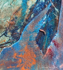 watercolor abstract contemporary paintings, collage textures, debiriley.com