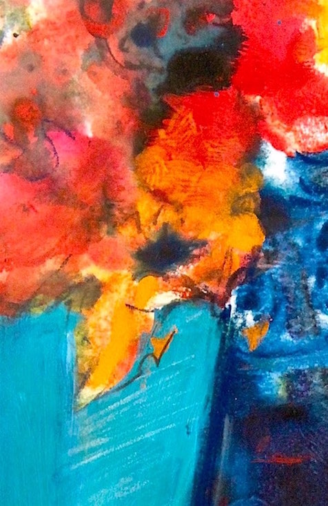 color medley on monday, floral painting, debiriley.com