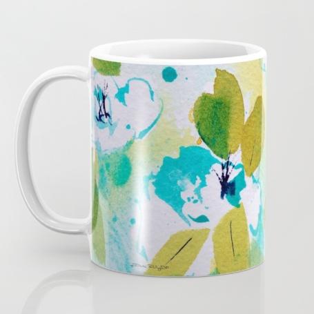 fresh spring azalea painting, cobalt teal blue pg50, debiriley.com