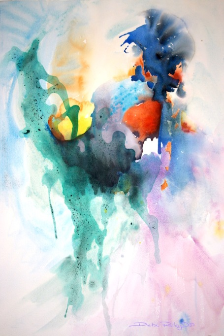 viridian green watercolor, viridian green pg18, watercolor mixing greens, debi riley watercolors, debiriley.com