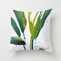 Society 6 debiriley art, watercolor tropical jungle green leaves, debiriley.com