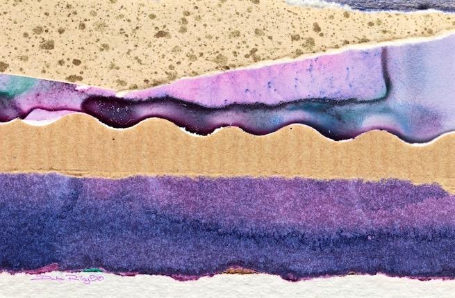 Watercolor Collage, silly saturday, debiriley.com