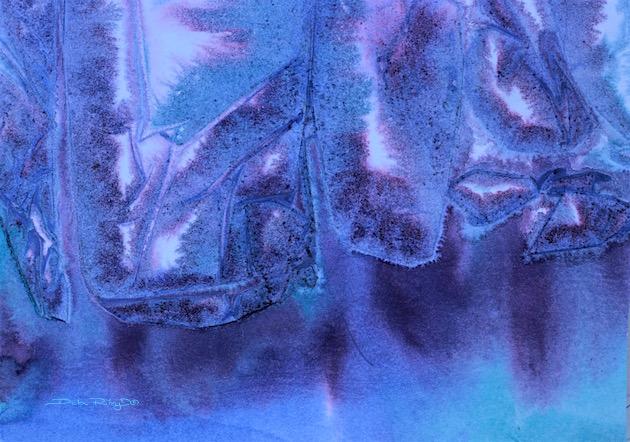 vibrant violet watercolor, painting, debiriley.com