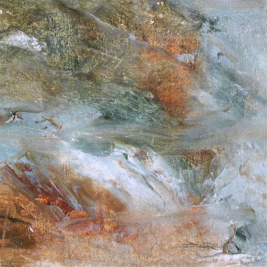 oil landscape abstract painting, debiriley.com