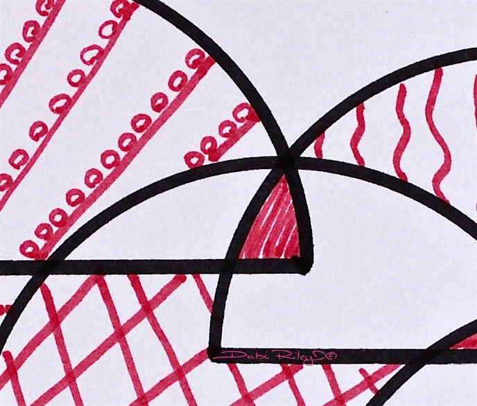 creating abstracts with lines, patterns, debi riley art, Kandinsky style, debiriley.com
