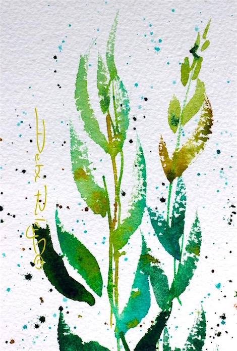watercolor green leaves, mixing foliage greens, greens in watercolor, debiriley.com