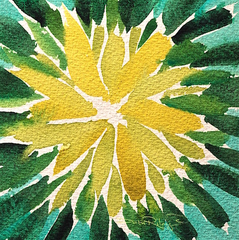 easy watercolor flowers, mixing green foliage leaves, simple watercolor paintings, debi riley art