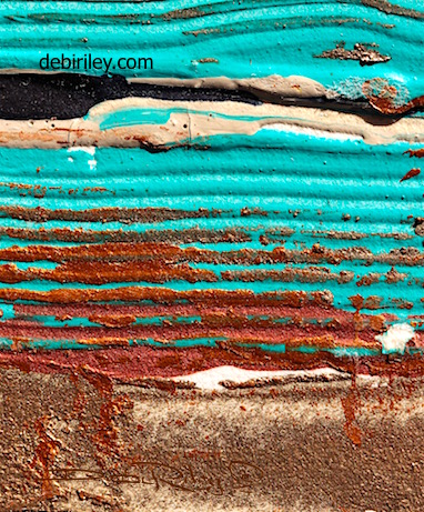 cobalt teal blue abstract painting, uplifting, debiriley.com