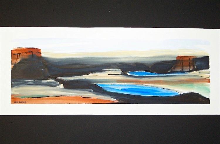 contemporary easy watercolor landscape, debi riley watercolor art workshops,