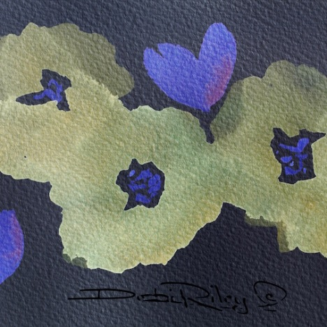 night flowers, watercolor painting, debi riley art techniques watercolor