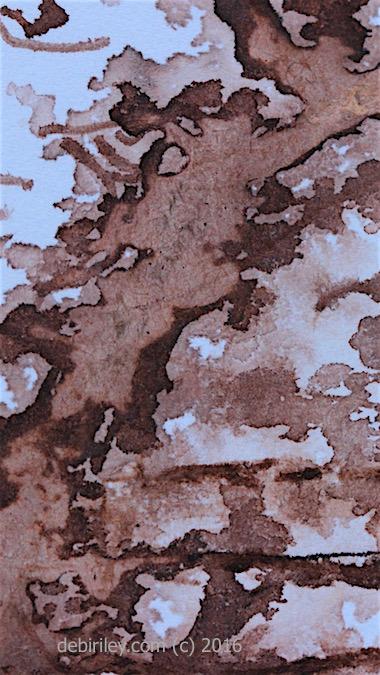ink splashes in brown, abstract ink blots, debiriley.com