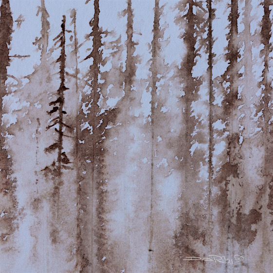 inks, forest mists drawing, debiriley.com
