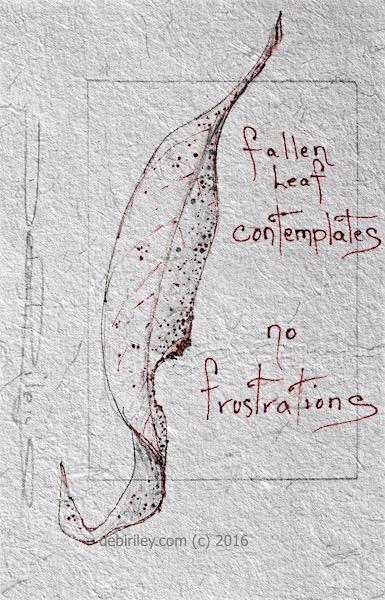 gum leaf pen illustration, poem, debi riley art basics