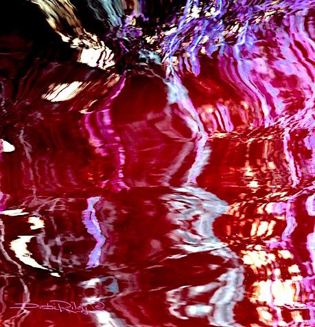street light reflections at night, digital painting, debiriley.com