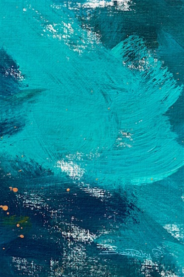 colors of the ocean, abstract oil painting, debi riley