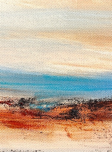 minimalist oil landscape, less is more, debi riley art and painting tips
