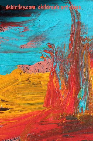 acrylic abstract cobalt teal, debiriley.com