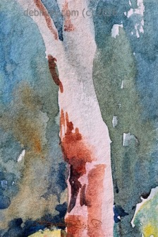 doodlewash.com, watercolor landscape, #world watercolor month, debiriley.com watercolors, tree paintings