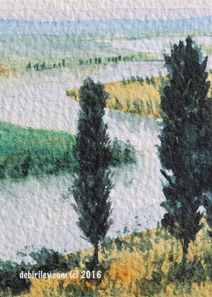 watercolor landscape, #worldwatercolormonth, debiriley.com