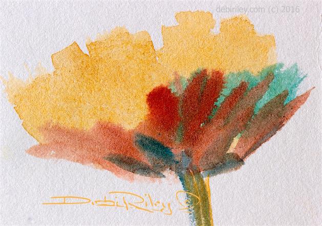 keep it simple with watercolors, flower painting, debiriley.com
