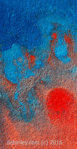 abstract in cadmium red, prussian blue, #world watercolor month, debiriley.com