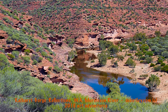Kalbarri, Murchison River, art by debi riley, travel Perth, photograph