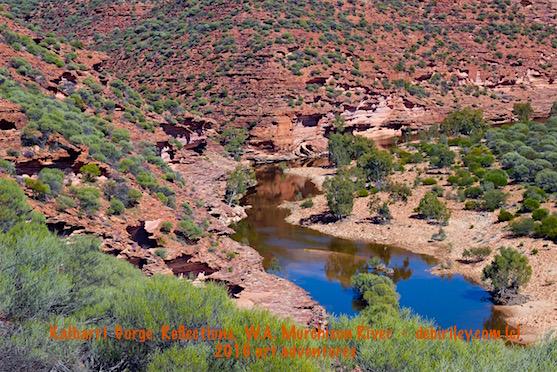 Kalbarri River, art by debi riley, travel Perth, photograph
