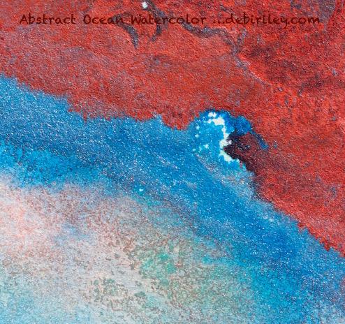 watercolor seascape abstract, debiriley.com