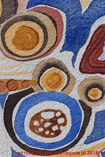 #worldwatercolorgroup, watercolor abstracts of Kalbarri Western Australia, debiriley.com