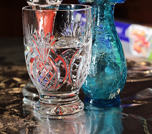 facets of colored glass, still life photography, debiriley.com