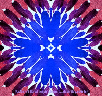 cornflower in blues, digital art, debiriley.com