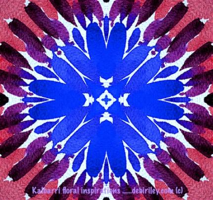 cornflower in blues, digital art, debiriley.com