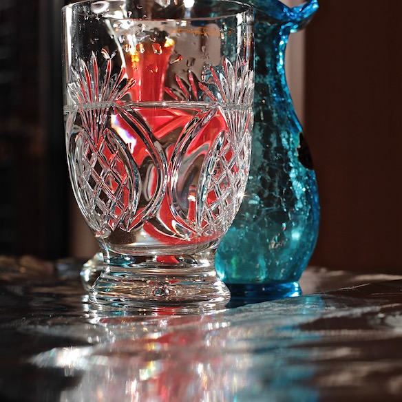 cut glass pineapple design, reflections, photography, debiriley.com