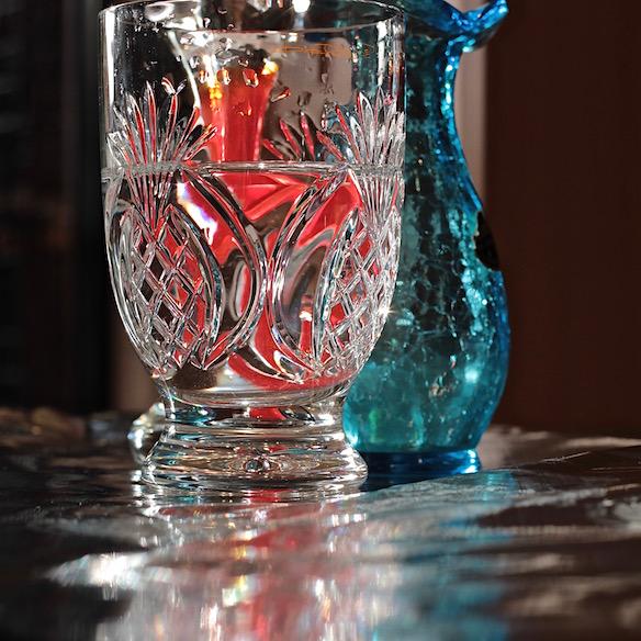 cut glass pineapple design, reflections, photography, debiriley.com