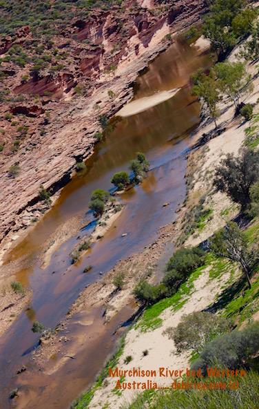 face of a river, Kalbarri gorge, Murchison River, Western Australia travel photographs, debirley.com