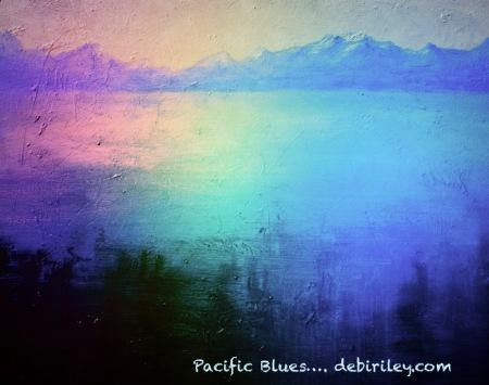 oil painting Hood Canal waters, debiriley.com