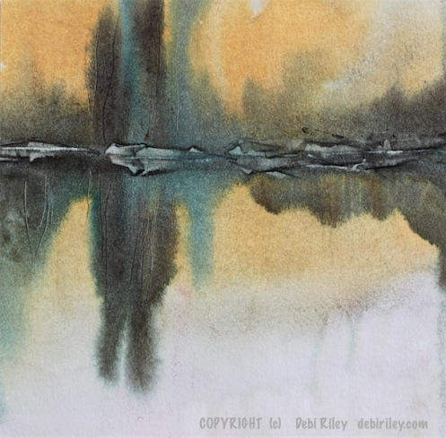 watercolor landscapes, prussian blue pb27, wonders in greens, debiriley.com