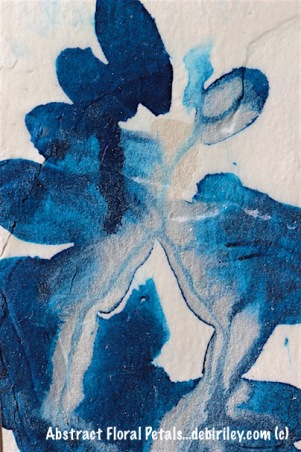 abstract petals in blue watercolors, debiriley.com