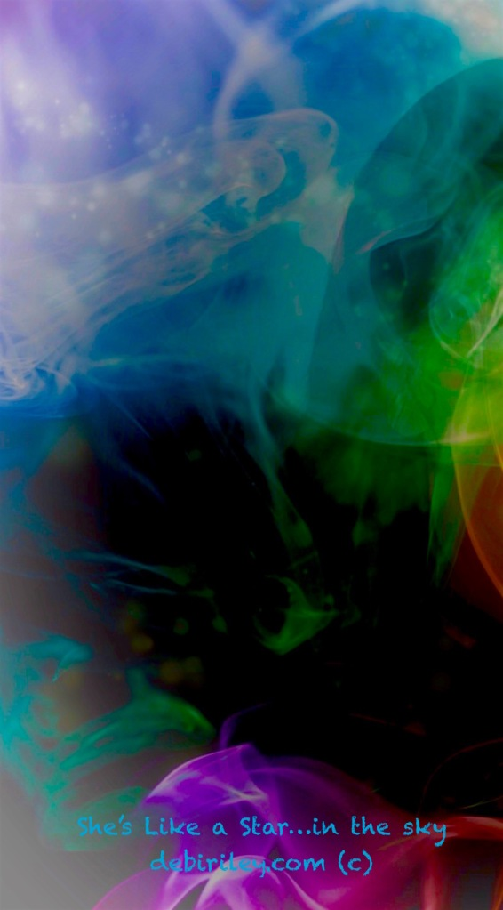 digital photograph layered in colors, debiriley.com