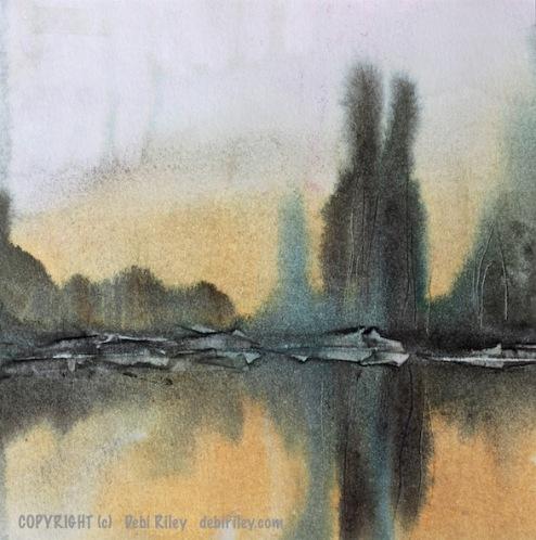 watercolor wonders, impressionist landscapes, prussian blue pb27 watercolor, debiriley.com