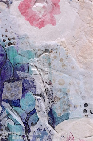 watercolor collage layers, fun art, debiriley.com