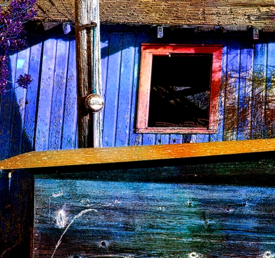 digital painting, shack textures, purple and red palette, debiriley.com