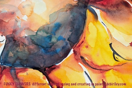 bright watercolor sunflower, flower painting class, Atwell Gallery Perth, debiriley.com