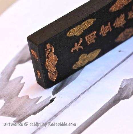 ink art work, inktober, pen and ink, drawings in ink, ink stone, debiriley.com