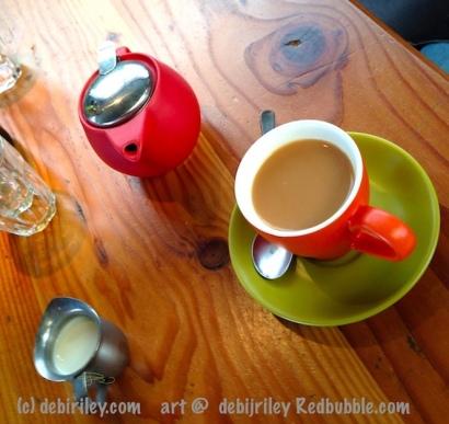 drinking coffee, photograph debiriley.com