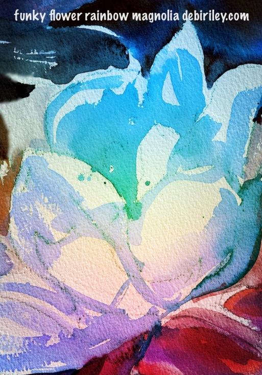 watercolor magnolia bright and colorful, debiriley.com