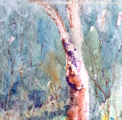 watercolor woodland forest, oil pastel textures, debiriley.com