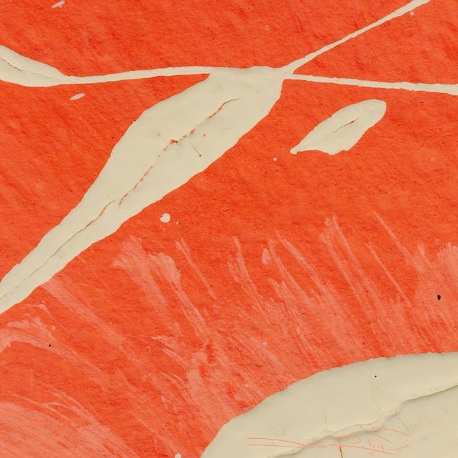 orange abstract, acrylic painting, debiriley.com