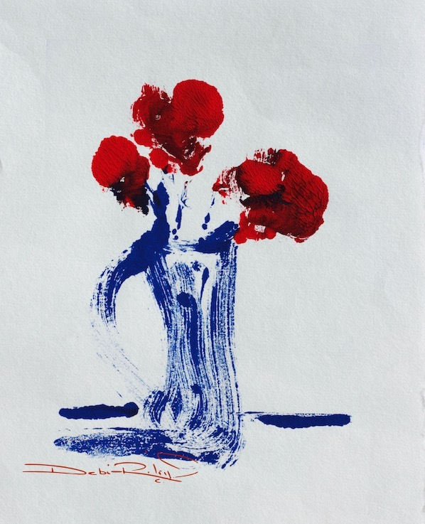 Simplicity: Red Roses, Blue Vase