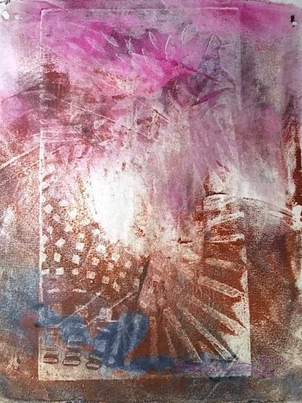 zen quotes, zen art, Lao Tzu, monotype art, monoprint abstracts, debiriley.com
